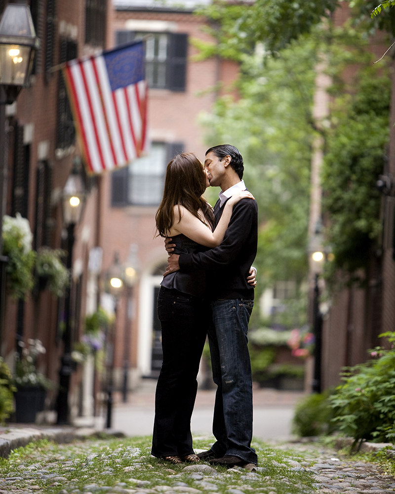 acorn street engagement photographer