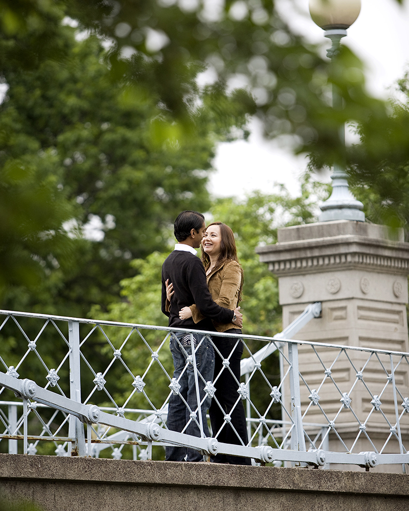 engagement portraits at public gardens