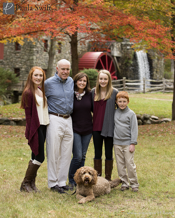 fall photo session at the grist mill